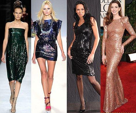 Модно ли платье с паетками